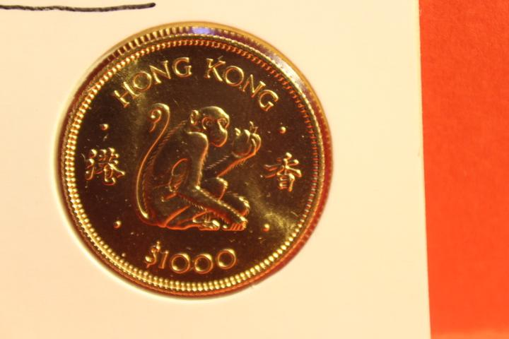 Münze 1000 Dollar Hong Kong Gold  1980   28 mm #3198