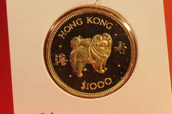 Münze 1000 Dollar Hong Kong Gold  1982   28 mm #3226